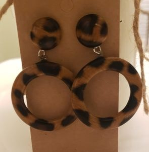 Animal print acrylic earrings